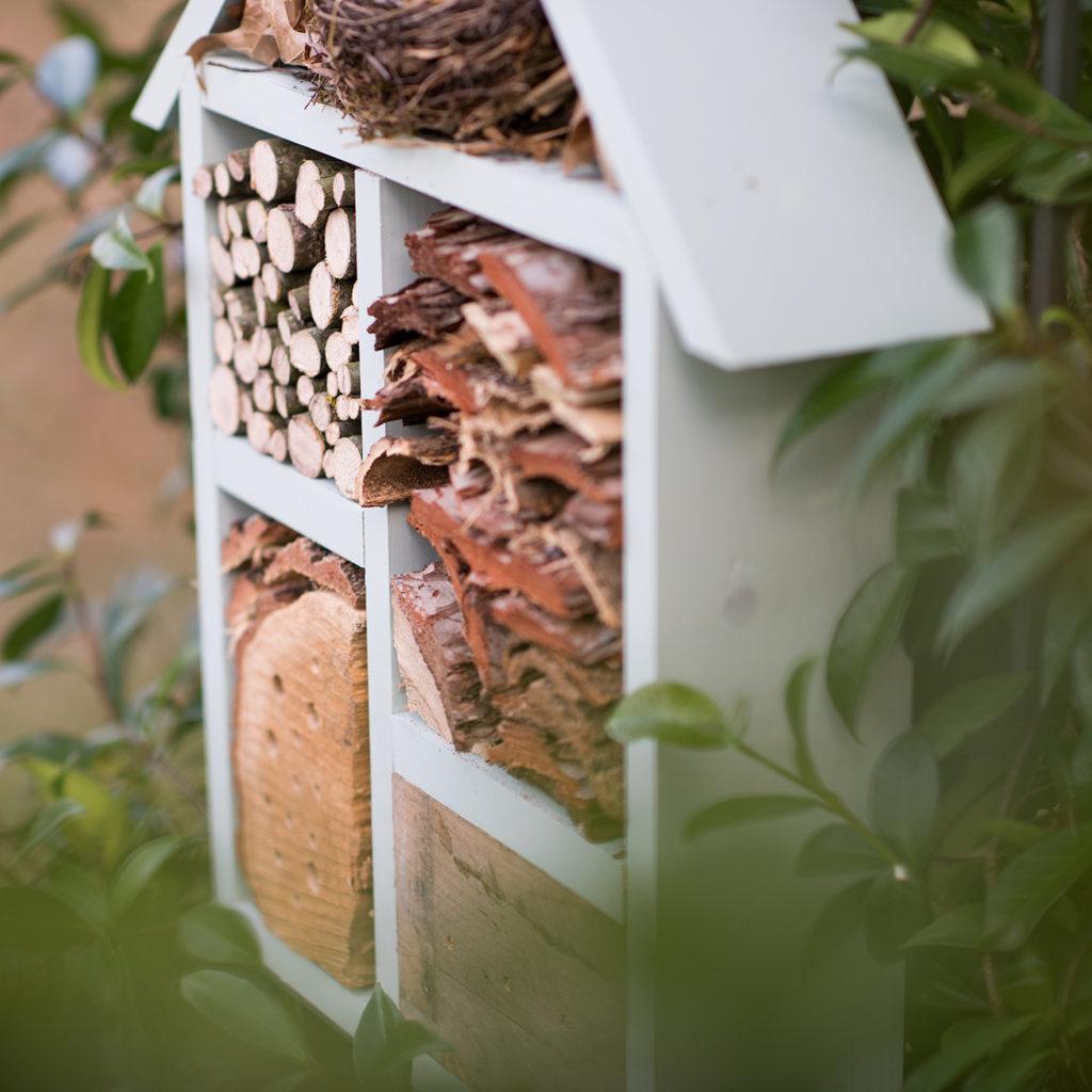hôtel à insecte en bois