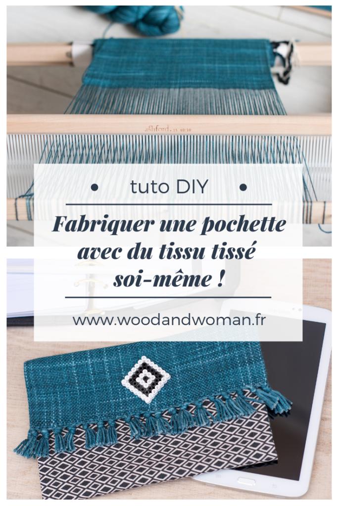 Tisser son tissu est très gratifiant, voici un tuto qui vous permettra de créer une pochette avec votre premier tissu fait maison !
