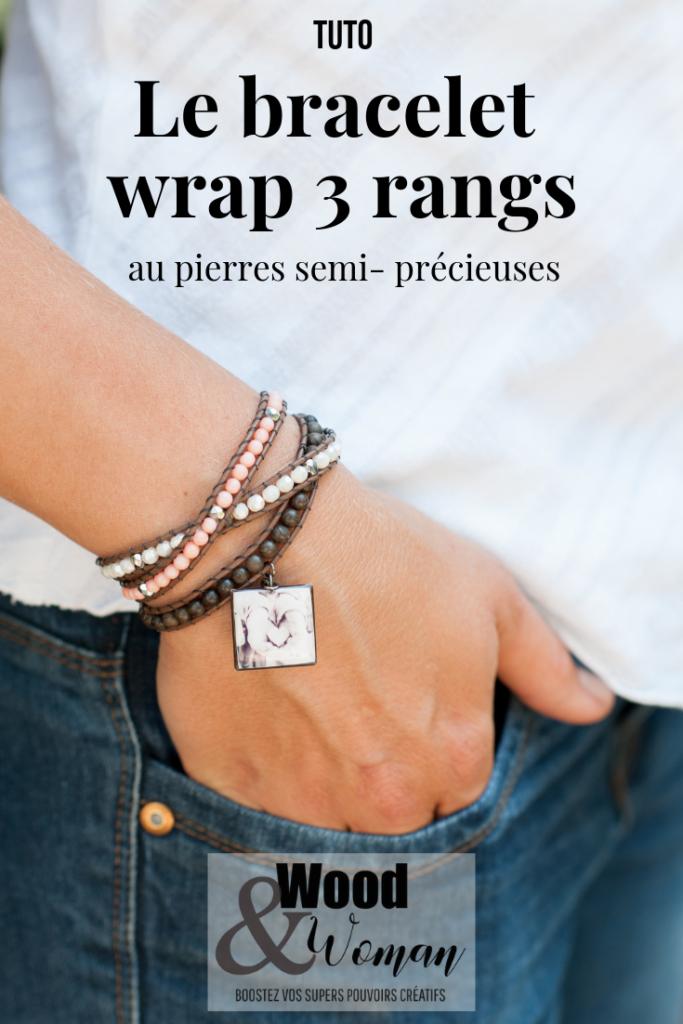 Créer un bracelet wrap pour la fête des mères, voilà une jolie idée cadeau ! Ce bracelet est aussi joli qu'il est facile à fabriquer. Voici le tuto qui vous explique tout. Attention cette réalisation est addictive, je prédis que vous n'en ferez pas qu'un !